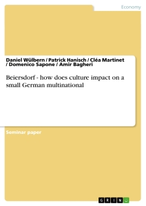 Title: Beiersdorf - how does culture impact on a small German multinational