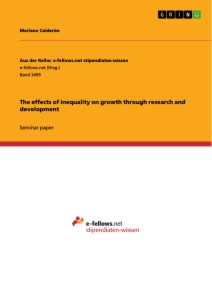 Title: The effects of inequality on growth through research and development
