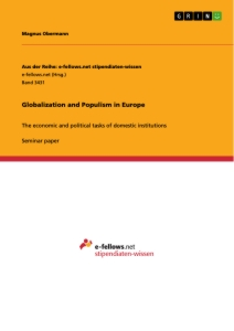 Title: Globalization and Populism in Europe