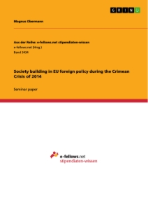 Title: Society building in EU foreign policy during the Crimean Crisis of 2014