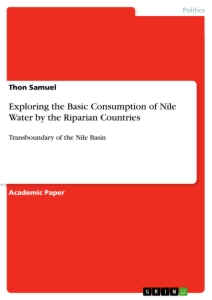 Title: Exploring the Basic Consumption of Nile Water by the Riparian Countries