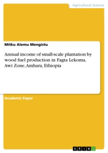 Title: Annual income of small-scale plantation by wood fuel production in Fagta Lekoma, Awi Zone, Amhara, Ethiopia