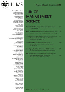 Titel: Junior Management Science, Volume 5, Issue 3, September 2020