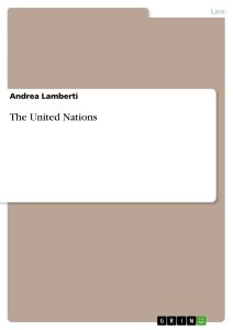 Titel: The United Nations