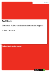 Title: National Policy on Immunization in Nigeria