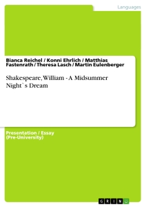 Titel: Shakespeare, William - A Midsummer Night`s Dream