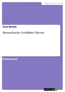 Title: Hierarchische Credibility-Theorie