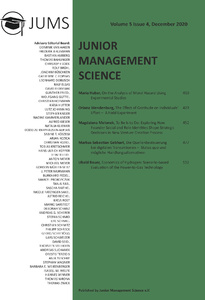 Titel: Junior Management Science, Volume 5, Issue 4, December 2020