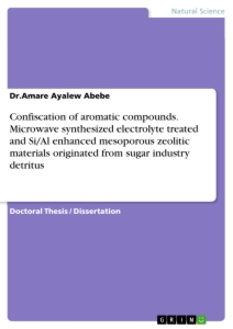 Título: Confiscation of aromatic compounds. Microwave synthesized electrolyte treated and Si/Al enhanced mesoporous zeolitic materials originated from sugar industry detritus