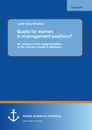 Title: Quota for women in management positions? An analysis of the implementation of the women's quota in Germany