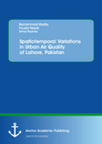 Title: Spatiotemporal Variations in Urban Air Quality of Lahore, Pakistan