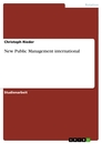 Titel: New Public Management international
