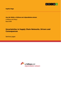 Titel: Uncertainties in Supply Chain Networks. Drivers and Consequences