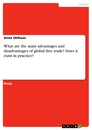 Titel: What are the main advantages and disadvantages of global free trade? Does it exist in practice?