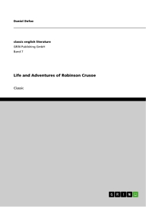 Titel: Life and Adventures of Robinson Crusoe