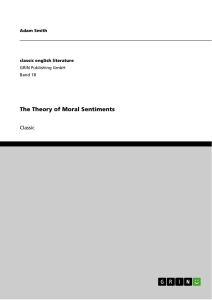Titel: The Theory of Moral Sentiments