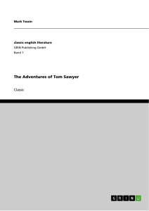 Titel: The Adventures of Tom Sawyer