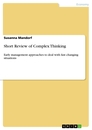 Titel: Short Review of Complex Thinking