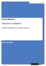 Titel: Education in England