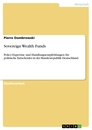 Titel: Sovereign Wealth Funds