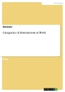 Titel: Categories of Absenteeism at Work