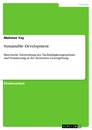 Titel: Sustainable Development