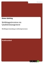 Titel: Mobbingprävention im Qualitätsmanagement