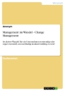 Titel: Management im Wandel - Change Management