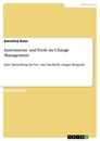 Titel: Instrumente und Tools im Change Management
