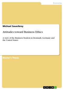 Titel: Attitudes toward Business Ethics