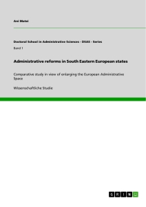 Titel: Administrative reforms in South Eastern European states