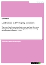 Titel: Land tenure in Developing Countries