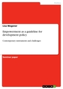 Titel: Empowerment as a guideline for development policy