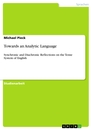 Titel: Towards an Analytic Language