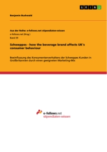Titel: Schweppes - how the beverage brand affects UK's consumer behaviour