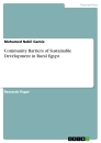Titel: Community Barriers of Sustainable Development in Rural Egypt
