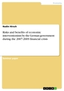 Titel: Risks and benefits of economic interventionism by the German government during the 2007-2009 financial crisis