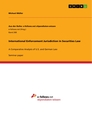 Titel: International Enforcement Jurisdiction in Securities Law