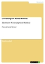 Titel: Electricity Consumption Method
