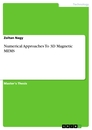 Titel: Numerical Approaches To 3D Magnetic MEMS