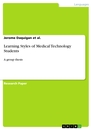 Titel: Learning Styles of Medical Technology Students