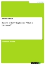 """Titel: Review of Terry Eagleton's """"What is Literature?"""""""