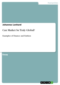 Titel: Can Market be Truly Global?