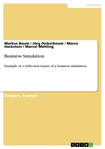 Titel: Business Simulation
