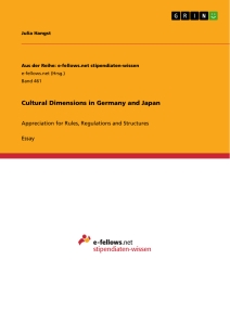 Titel: Cultural Dimensions in Germany and Japan