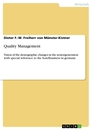 Titel: Quality Management
