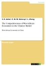 Titel: The Competitiveness of West African Economies in the Chinese Market
