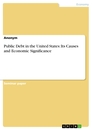 Titel: Public Debt in the United States: Its Causes and Economic Significance