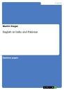 Titel: English in India and Pakistan
