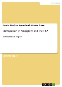 Titel: Immigration in Singapore and the USA